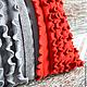 """Текстиль, ковры ручной работы. Чехол на думку из серии """" Красные узоры"""". Миллионка. Интернет-магазин Ярмарка Мастеров."""