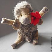 Куклы и игрушки ручной работы. Ярмарка Мастеров - ручная работа Овечка с маком. Перчаточная кукла Bi-Ba-Bo.. Handmade.