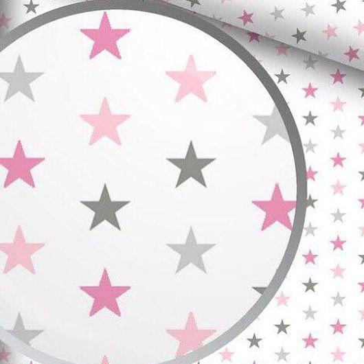 Шитье ручной работы. Ярмарка Мастеров - ручная работа. Купить Хлопок, серо-розовые звезды. Handmade. Хлопок, хлопок для пэчворка