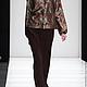 Женская блузка, Блуза, Блузка, Блуза жаккардовая, Блуза коричневая, Блузка из жаккарда, Блузка дизайнерская, Блузка нарядная, Блузка с рукавами, Блузка в офис, Блузка повседневная, Купить блузку, Модн