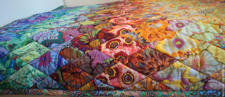 Текстиль, ковры ручной работы. Ярмарка Мастеров - ручная работа. Купить Лоскутное одеяло  Яркая бесконечность. Handmade. Радуга, цветной