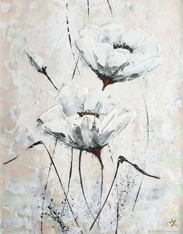 Белые цветы, Картины, Калининград,  Фото №1