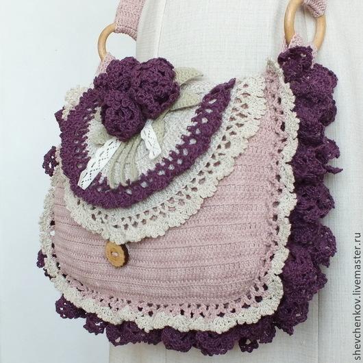 Сумки и аксессуары ручной работы. Ярмарка Мастеров - ручная работа. Купить Бохо-сумка вязаная Розовый букет. Handmade.