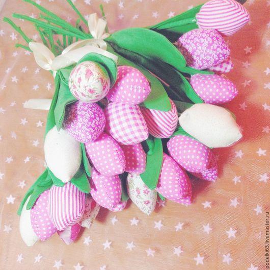Подарки для влюбленных ручной работы. Ярмарка Мастеров - ручная работа. Купить Мягкие тюльпаны Тильда. Handmade. Разноцветный, тюльпаны, подарок