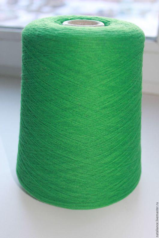 Вязание ручной работы. Ярмарка Мастеров - ручная работа. Купить Кашемир 100%. Handmade. Зеленый, итальянская пряжа, 100%кашемир