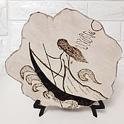 Картины и панно handmade. Livemaster - original item Panels: Burning on a tree cut