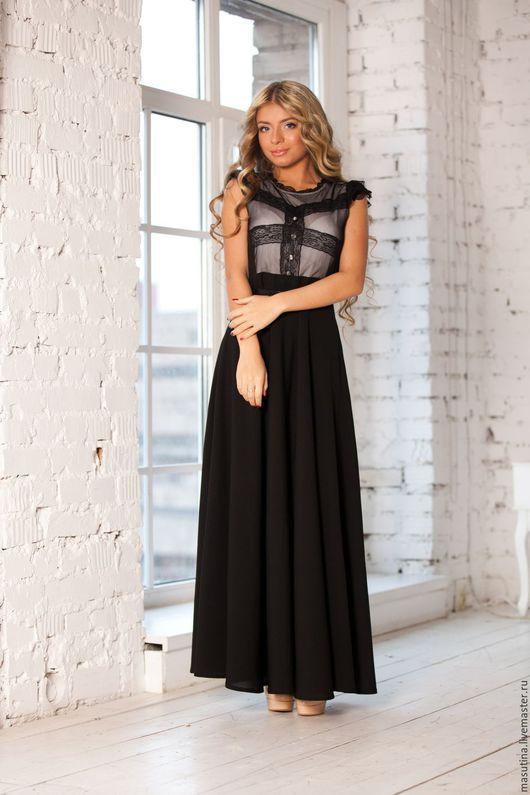 """Платья ручной работы. Ярмарка Мастеров - ручная работа. Купить Платье """"Eleganzza"""". Handmade. Чёрно-белый, платье на заказ"""