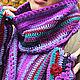 Шарфы и шарфики ручной работы. Заказать Комплект. Вязаный шарф и митенки. Ирина Леонова. Ярмарка Мастеров. Шарф женский, теплый