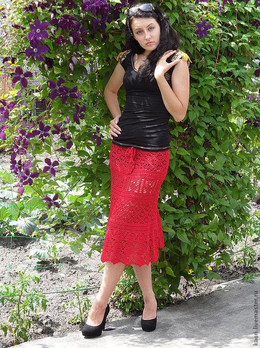 Юбки ручной работы. Ярмарка Мастеров - ручная работа. Купить юбка ажурная  Готовая работа р 44-46 есть в наличии. Handmade.