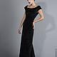 Платья ручной работы. Бархатное черное платье. OlgaKhmarskaya Designer. Интернет-магазин Ярмарка Мастеров. Однотонный, бархатное платье, дизайн
