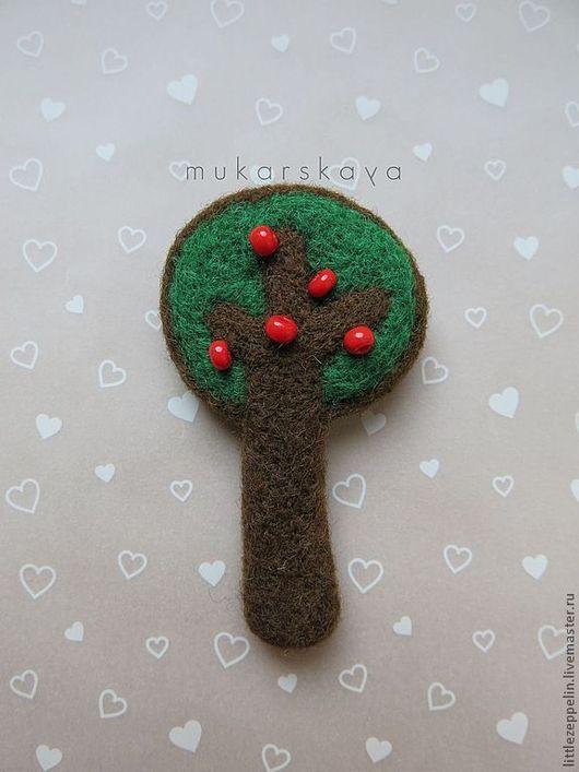 Броши ручной работы. Ярмарка Мастеров - ручная работа. Купить Деревья. Handmade. Тёмно-зелёный, шерсть, войлок