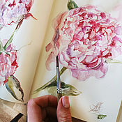 Картины и панно handmade. Livemaster - original item Blooming petals-watercolor painting. Handmade.