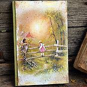 """Канцелярские товары ручной работы. Ярмарка Мастеров - ручная работа """"Детство -счастливая пора""""  блокнот для записей. Handmade."""