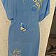 Блузки ручной работы. Заказать вышитая шелком заготовка на платье или тунику. валентина (ketmir). Ярмарка Мастеров.