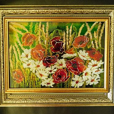 Картины и панно ручной работы. Ярмарка Мастеров - ручная работа Маки. Красное и белое. Handmade.