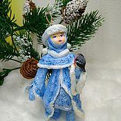 Куклы и игрушки ручной работы. Ярмарка Мастеров - ручная работа Ватная елочная игрушка Снегурочка.. Handmade.