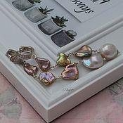 Украшения handmade. Livemaster - original item Earrings with natural pearls