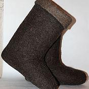 Обувь ручной работы. Ярмарка Мастеров - ручная работа Лечебные валенки с пухом (подшерстком). Handmade.