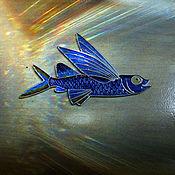 """Украшения ручной работы. Ярмарка Мастеров - ручная работа Брошь """"Летучая рыба"""". Handmade."""