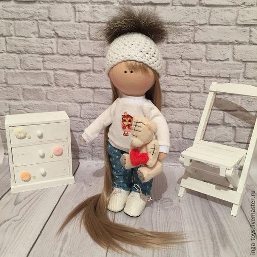 Коллекционные куклы ручной работы. Ярмарка Мастеров - ручная работа. Купить Интерьерная куколка. Handmade. Комбинированный, интерьерное украшение