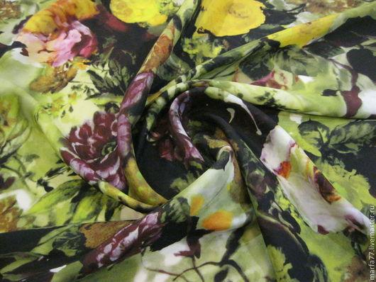 Шитье ручной работы. Ярмарка Мастеров - ручная работа. Купить Итальянский шелк.. Handmade. Зеленый, шелк натуральный, шелковый шарф