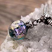 """Украшения ручной работы. Ярмарка Мастеров - ручная работа """"Елочный шарик"""" серебряная бусина-подвеска для браслетов. Handmade."""