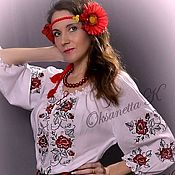 Одежда handmade. Livemaster - original item dresses: Tunic dress in the Ukrainian style