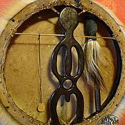 Музыкальные инструменты ручной работы. Ярмарка Мастеров - ручная работа Шаманский бубен с настраиваемым ободом. Handmade.
