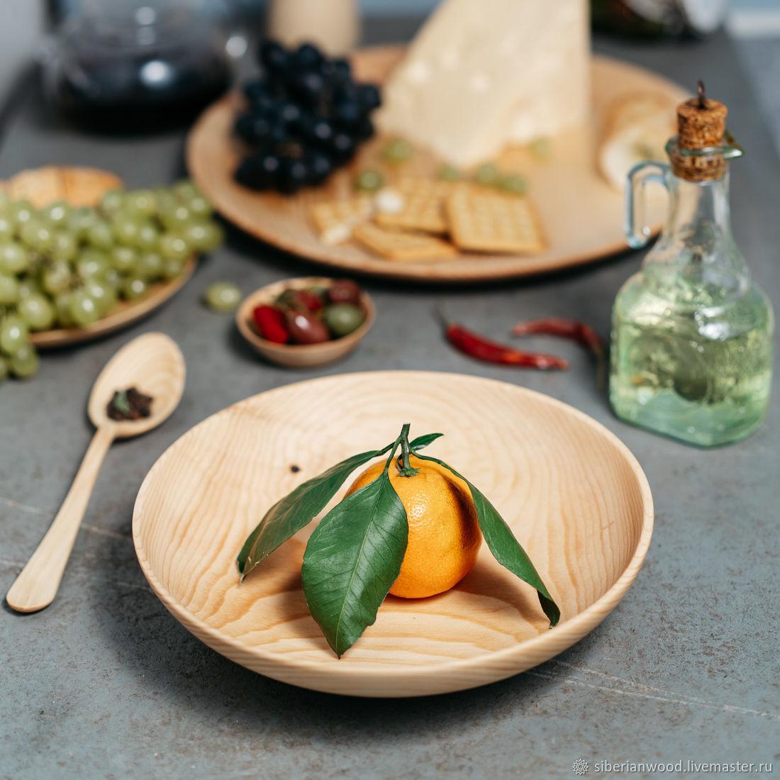 Wooden deep dish made of Siberian Cedar T104, Plates, Novokuznetsk,  Фото №1