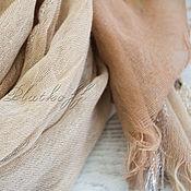 Аксессуары handmade. Livemaster - original item Stole base linen beige