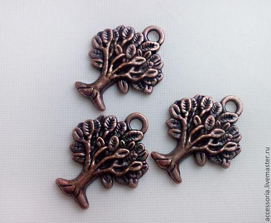 Подвеска Дерево 22 х 17 мм. Цвет: античная медь. Подвески для украшений.