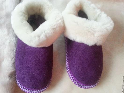Обувь ручной работы. Ярмарка Мастеров - ручная работа. Купить Чуни подростковые из овчины. Handmade. Чуни подростковые, тапочки из мутона