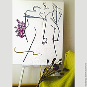 """Картины ручной работы. Ярмарка Мастеров - ручная работа Картина """"Двое"""". Handmade."""