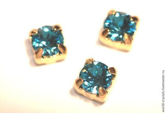 Кристаллы 379 Indicolite.  Ювелирные касты под золото.