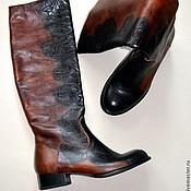 Обувь ручной работы. Ярмарка Мастеров - ручная работа Сапоги коричневые. Handmade.