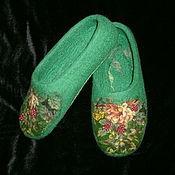 """Обувь ручной работы. Ярмарка Мастеров - ручная работа Валяные женские тапочки """"Ягодные"""". Handmade."""