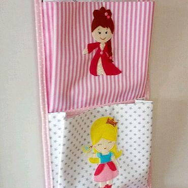Для дома и интерьера ручной работы. Ярмарка Мастеров - ручная работа Кармашки для детского сада для маленьких принцесс. Handmade.