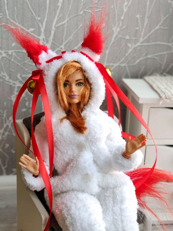 """Пижама-кигуруми """"Кицунэ"""" для Барби, Одежда для кукол, Зеленоград,  Фото №1"""