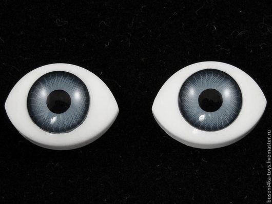 """Куклы и игрушки ручной работы. Ярмарка Мастеров - ручная работа. Купить 18х27мм Глаза кукольные (серые) 2шт. """"5617"""". Handmade."""