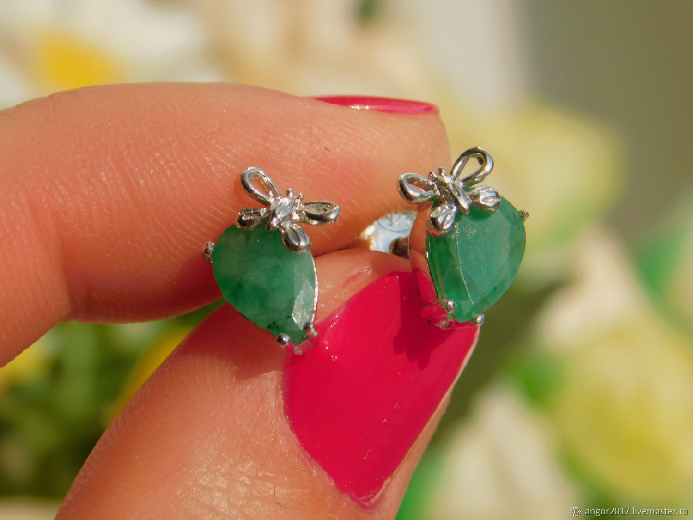 Emerald set (earrings,ring,pendant). Size 17, Jewelry Sets, Sergiev Posad,  Фото №1