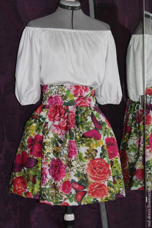 Платья ручной работы. Ярмарка Мастеров - ручная работа. Купить С бабочками. Handmade. Белый, платье, юбка баллон