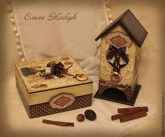 """Кухня ручной работы. Ярмарка Мастеров - ручная работа. Купить Чайный набор """" Шоколадный аромат """". Handmade. Коричневый"""