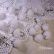 Украшения handmade. Livemaster - original item Maiden - beads bracelet earring ring mink white, blue. Handmade.