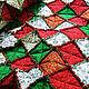 """Текстиль, ковры ручной работы. Лоскутный плед """"Новогодний"""". Annikki Patchworks. Интернет-магазин Ярмарка Мастеров. Тёмно-зелёный, покрывало"""