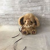 Мягкие игрушки ручной работы. Ярмарка Мастеров - ручная работа Слоник всех приветствует...тедди 14,5 см. Handmade.