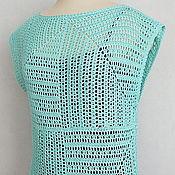 Одежда handmade. Livemaster - original item Tunic Mint. Handmade.