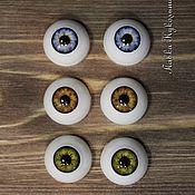 """Материалы для творчества ручной работы. Ярмарка Мастеров - ручная работа Глазки для кукол """"живой взгляд"""" 18мм. Handmade."""