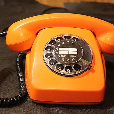 Винтаж ручной работы. Ярмарка Мастеров - ручная работа Дисковый телефон POST FeTAp модель 611-2. Handmade.
