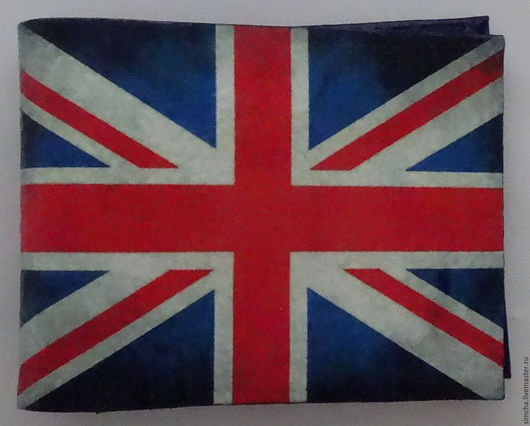 кожаная обложка, обложка для удостоверения, обложка на студенческий, подарок на новый год, британский флаг, Англия, ручная работа