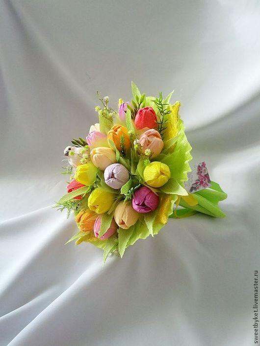 Букеты ручной работы. Ярмарка Мастеров - ручная работа. Купить Весна в сердце, к 8 марта, ручной букет из конфет, на юбилей. Handmade.